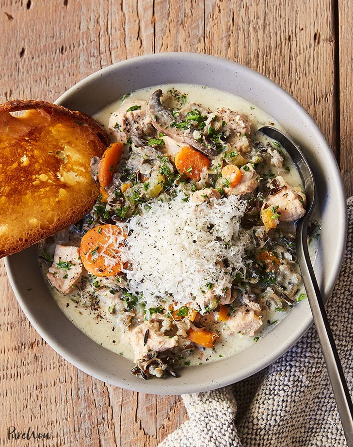 Slow Cooker Creamy Chicken And Wild Rice Soup Purewow