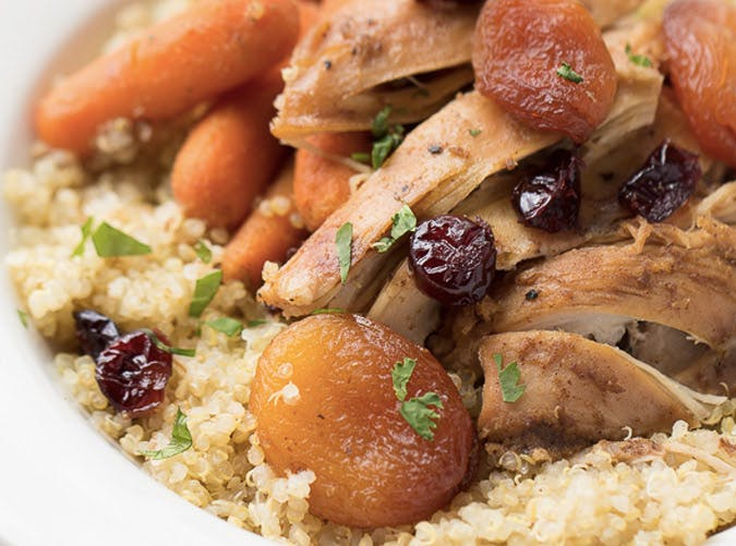 slow cooker moroccan apricot chicken recipe