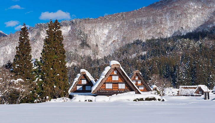 small japanese village winter wonderland 2