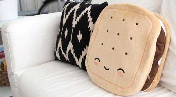Cold Butt? You Need This Smores-Shaped Heated Pillow, Clearly