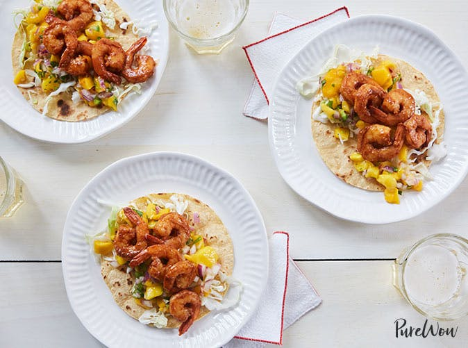 spicy shrimp tacos mango salsa