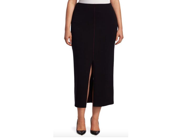 stizzoli plus size midi skirt