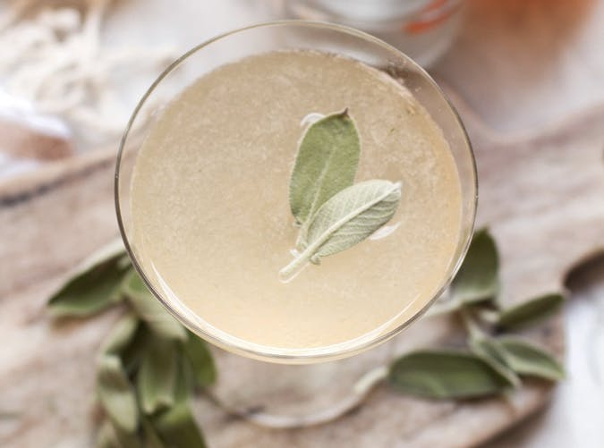 super bowl cocktail recipes sage bees knees