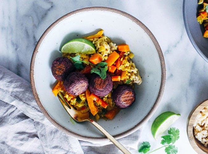 sweet potato kofta turmeric curry