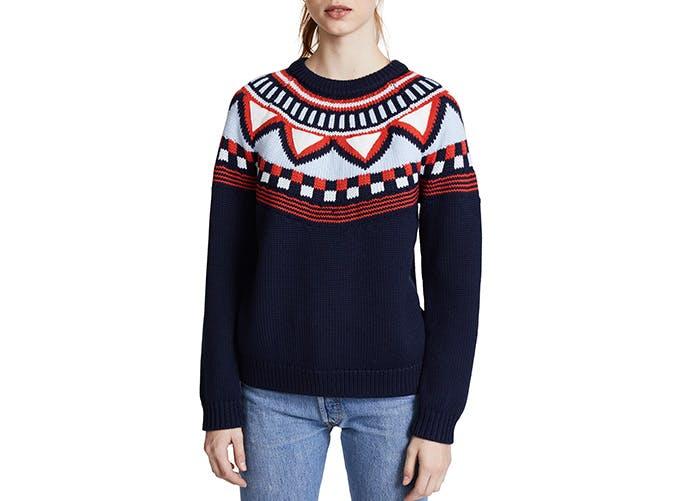 tory sport fair isle sweater