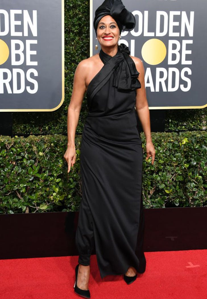 tracee ellis ross wearing pants golden globes