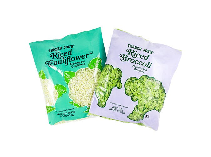 trader joes riced cauliflower riced broccoli