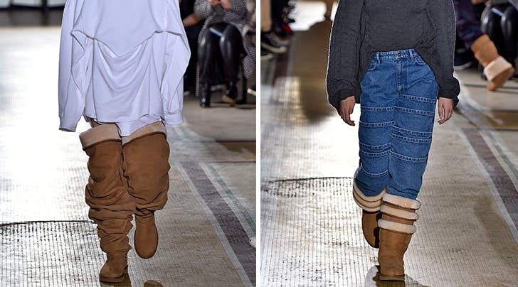 Thigh-High Uggs Just Walked Down the Runway in Paris, and We Have A LOT of Feelings