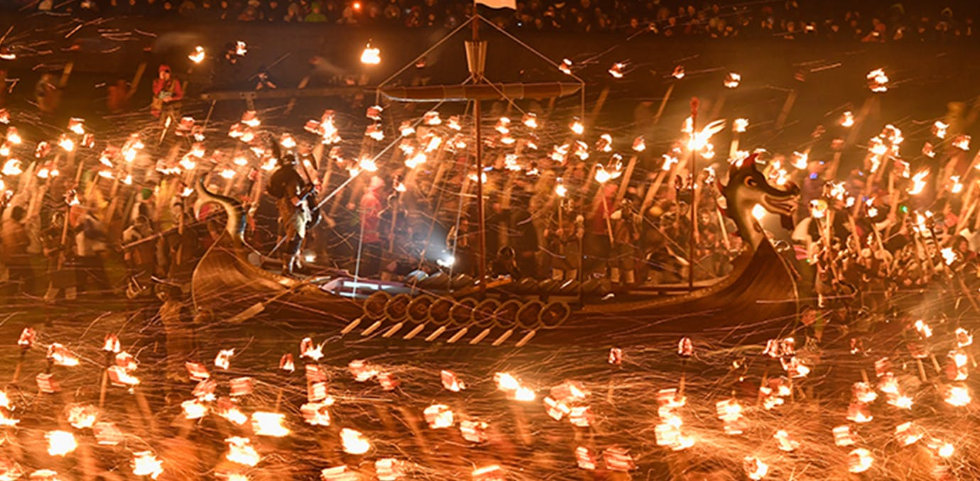 up helly aa fire festival in lerwick scotland full