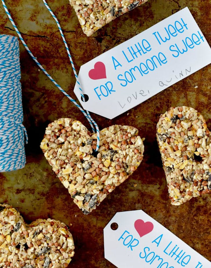 valentine bird feeder crafts for kids