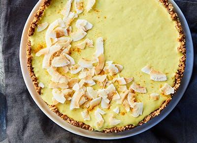 vegan golden myllk cheesecake 290