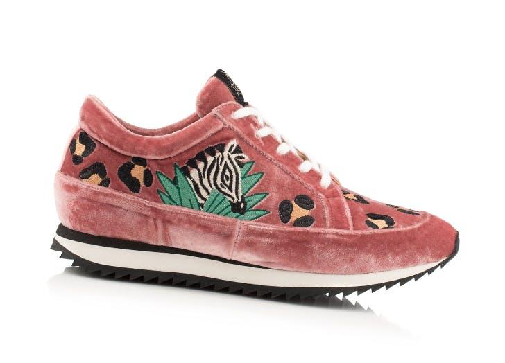 velvet sneakers charlotte olympia