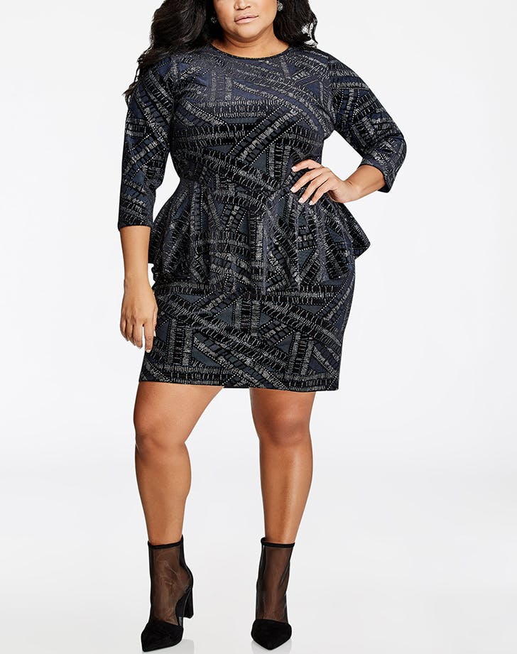 The 50 best dresses to wear to a winter wedding purewow for Ashley stewart wedding dresses