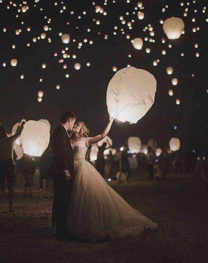 wedding send off lanterns