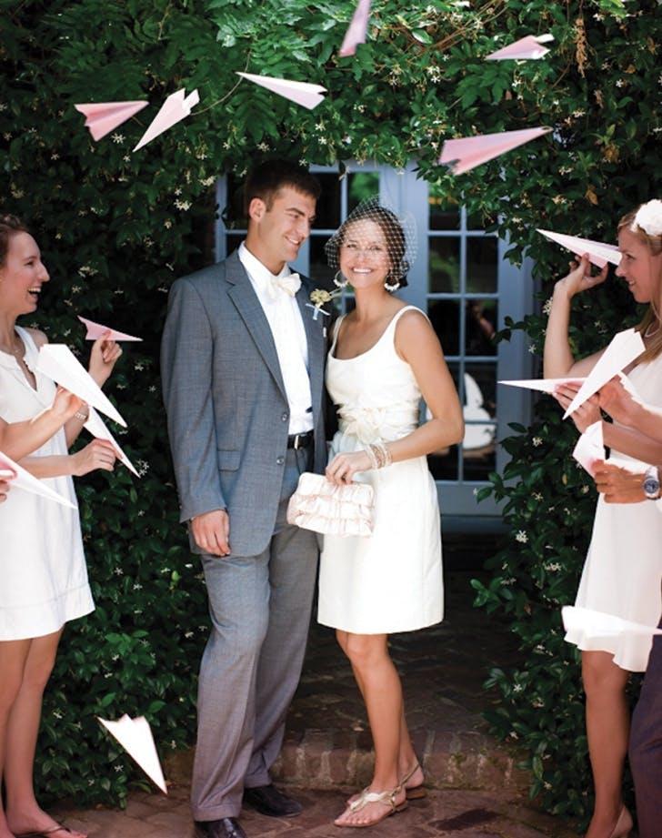 wedding send off paper planes