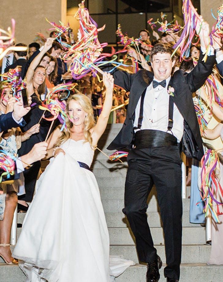 wedding send off streamers