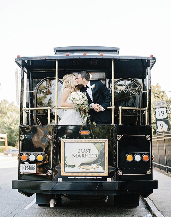 wedding send off trolley