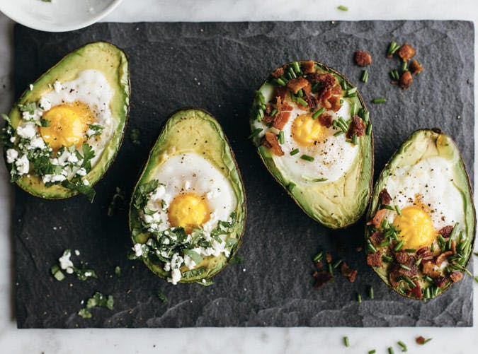 whole30 breakfast baked eggs in avocados recipe