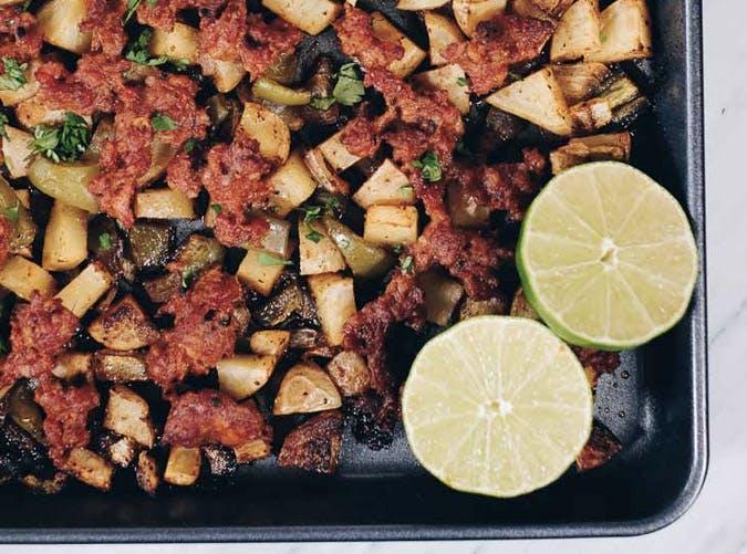 whole30 breakfast one pan chorizo bake recipe