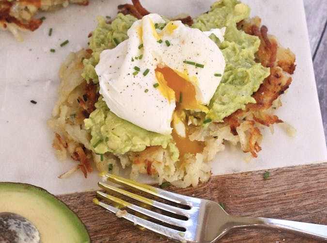 whole30 breakfast potato avocado toast poached eggs recipe