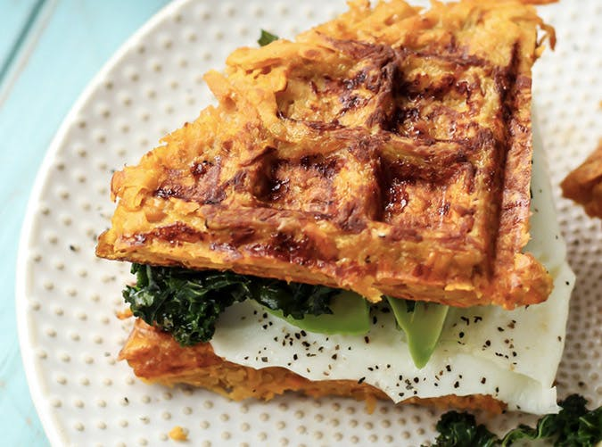 whole30 breakfast sweet potato waffle sandwich recipe