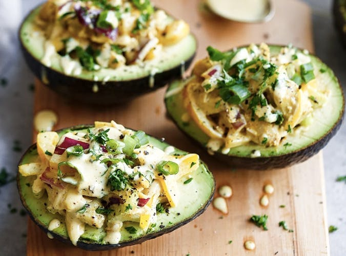 whole30 chicken salad avocado boats recipe