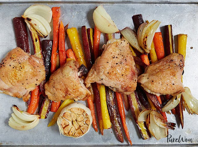 whole30 sheet pan chicken and carrots recipe