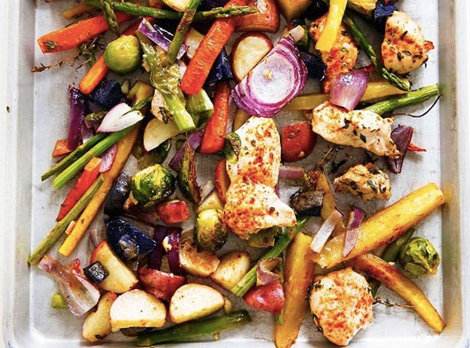 whole30 sheet pan chicken and veggie dinner recipe