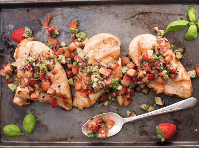 whole30 strawberry basil chicken with avocado recipe