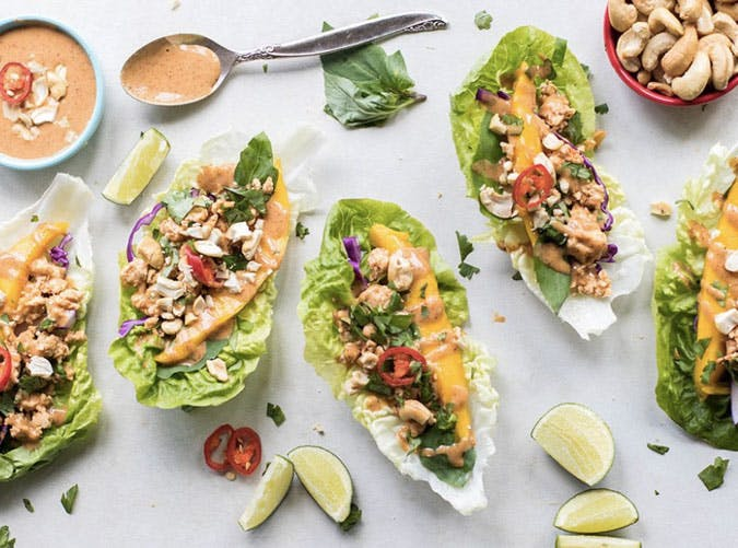 whole30 thai chicken lettuce wraps recipe