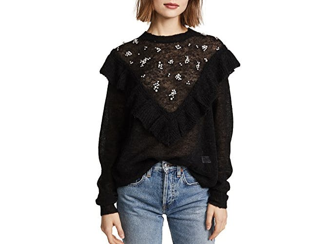 wildfox ruffled sweater