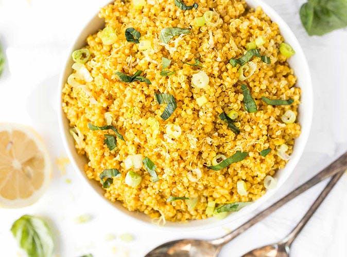 5 ingredient lemon turmeric quinoa