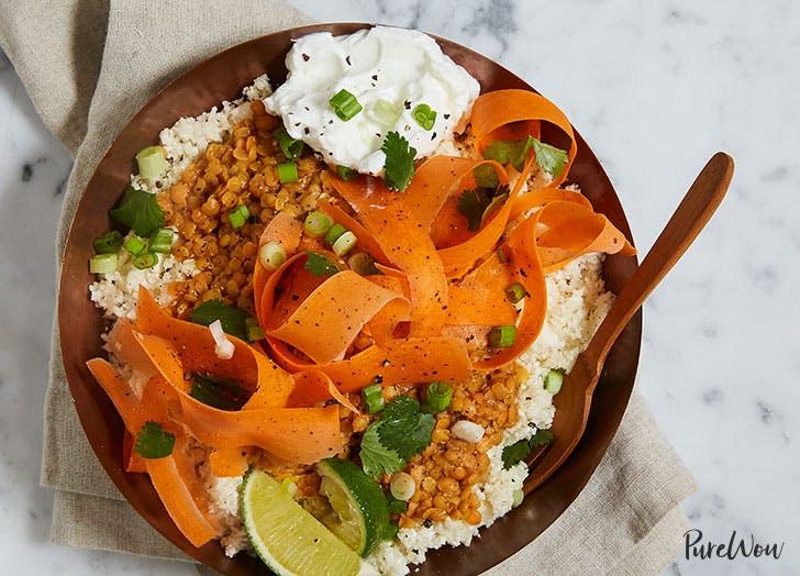 Anti Inflammatory Cauliflower rice bowl