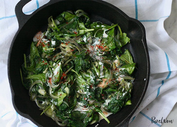 Anti Inflammatory Coconut Creamed Spinach