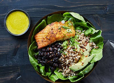 Anti inflammatory salmon bowl 400