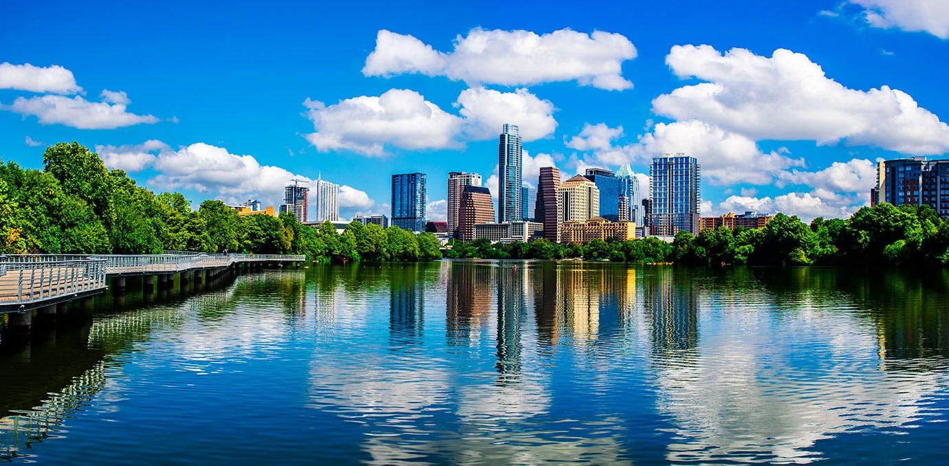 Austin Texas beautiful skyine