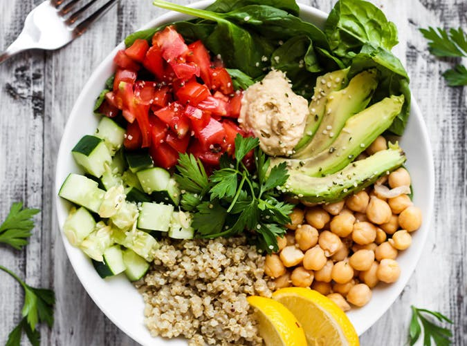 Greek Quinoa Buddha Bowl recipe
