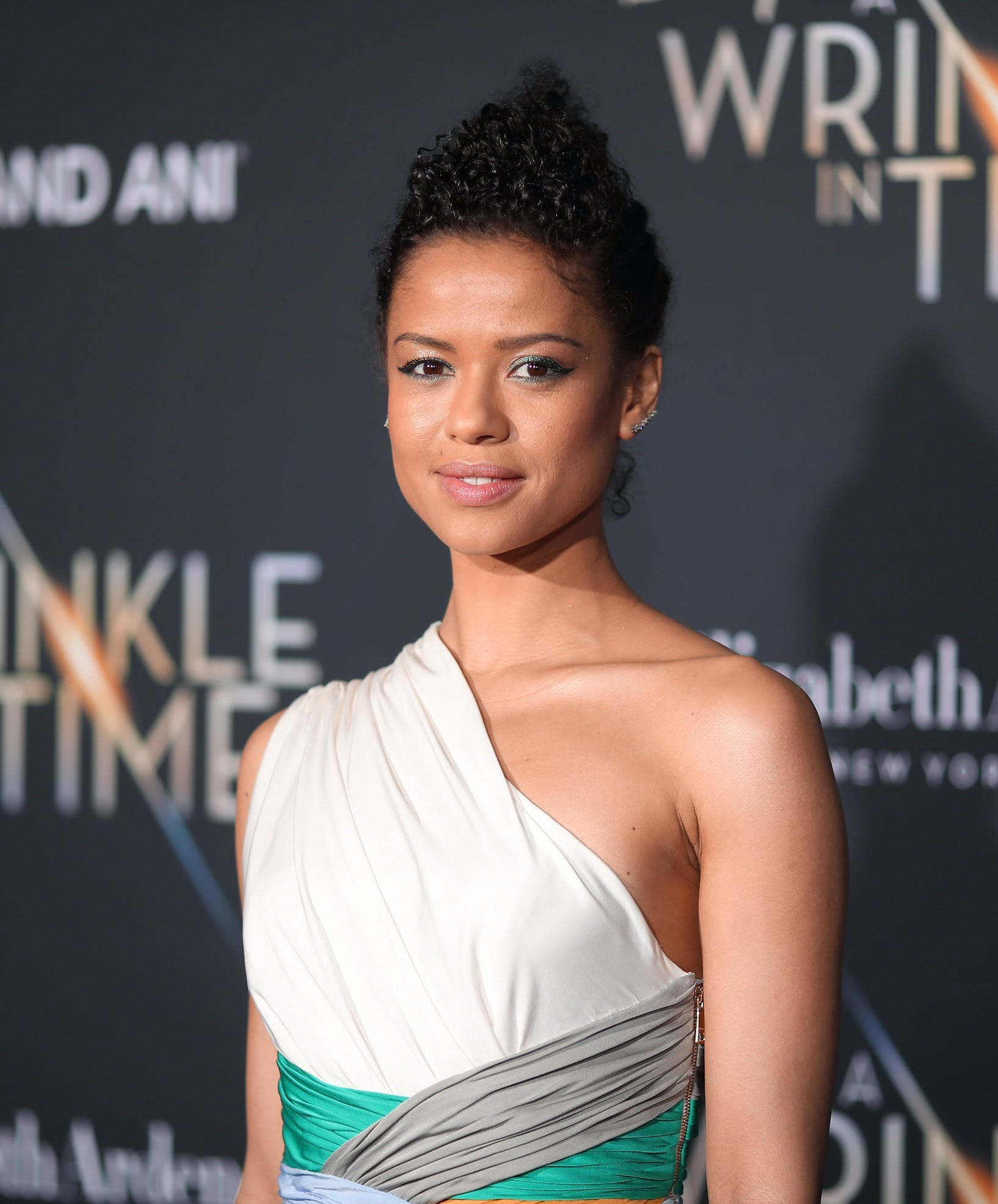 Gugu Mbatha Raw at the premier of A Wrinkle In Time