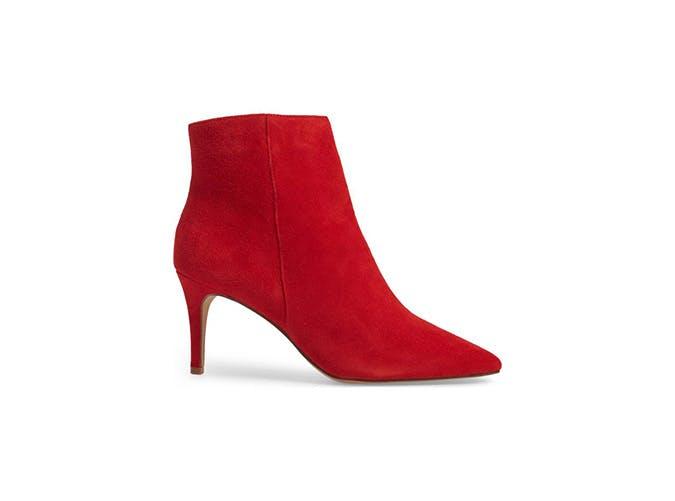 Halogen red bootie