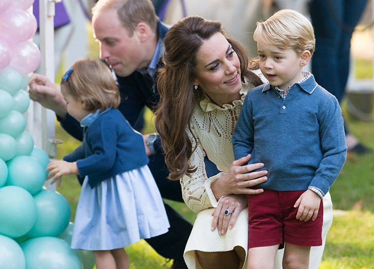 Kate Middleton being a hands on mom to Prince George