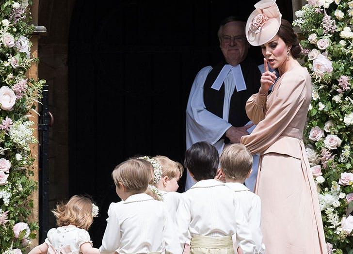 Kate Middleton telling kids to be quiet at Pippa Middleton wedding