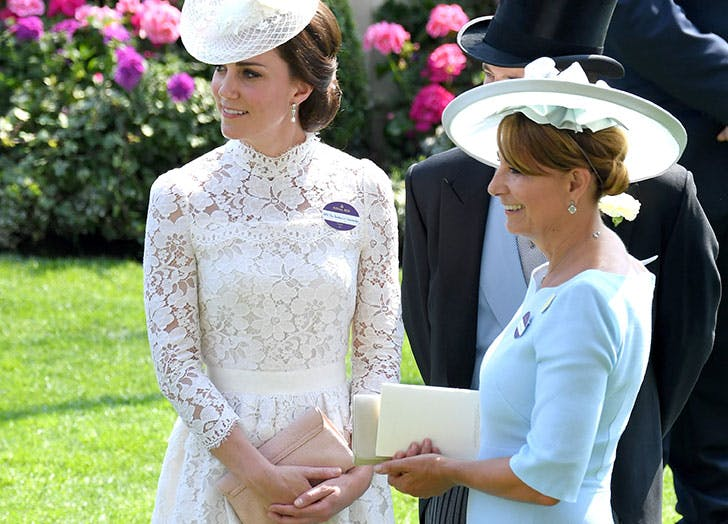 Kate Middleton with her mom Carole Middleton