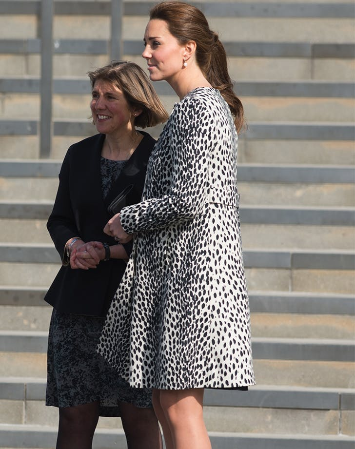 Kate Middleton Leopard Coat side view