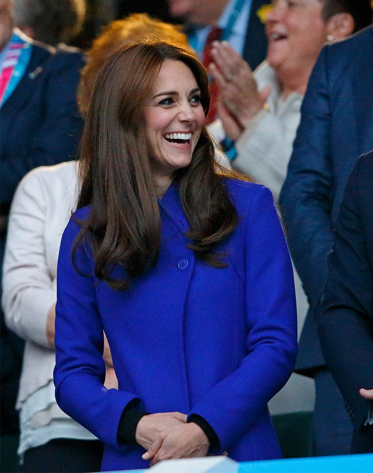 Kate Middleton Rugby World Cup 2015 coat
