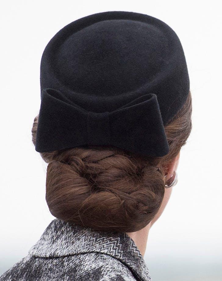 Kate Middleton hairnet 1