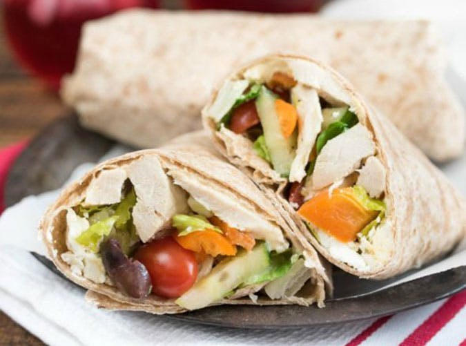 Mediterranean Chicken Wrap Anti Inflammatory Lunch Recipe