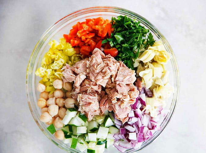 Mediterranean Tuna Salad Anti Inflammatory lunch recipe