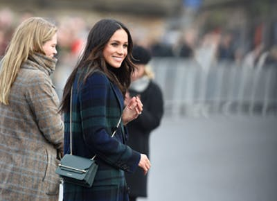 Meghan Markle Burberry Tartan coat category