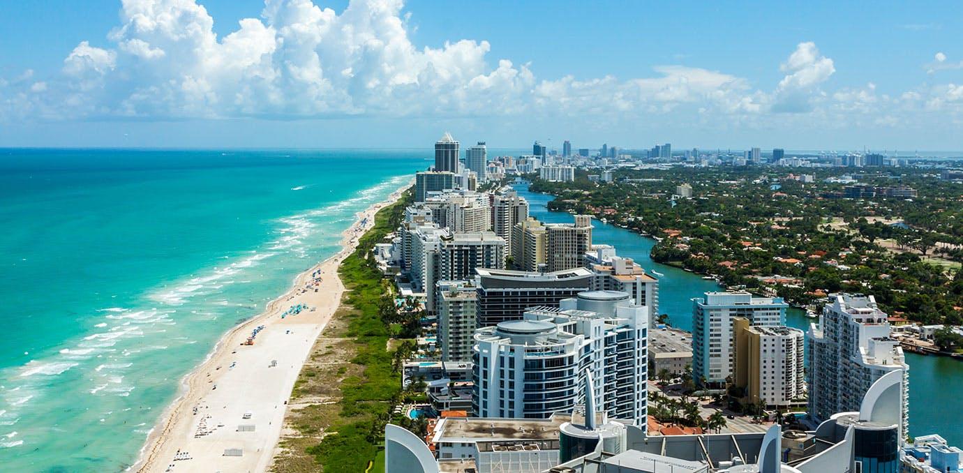 Miami South Beach skyline