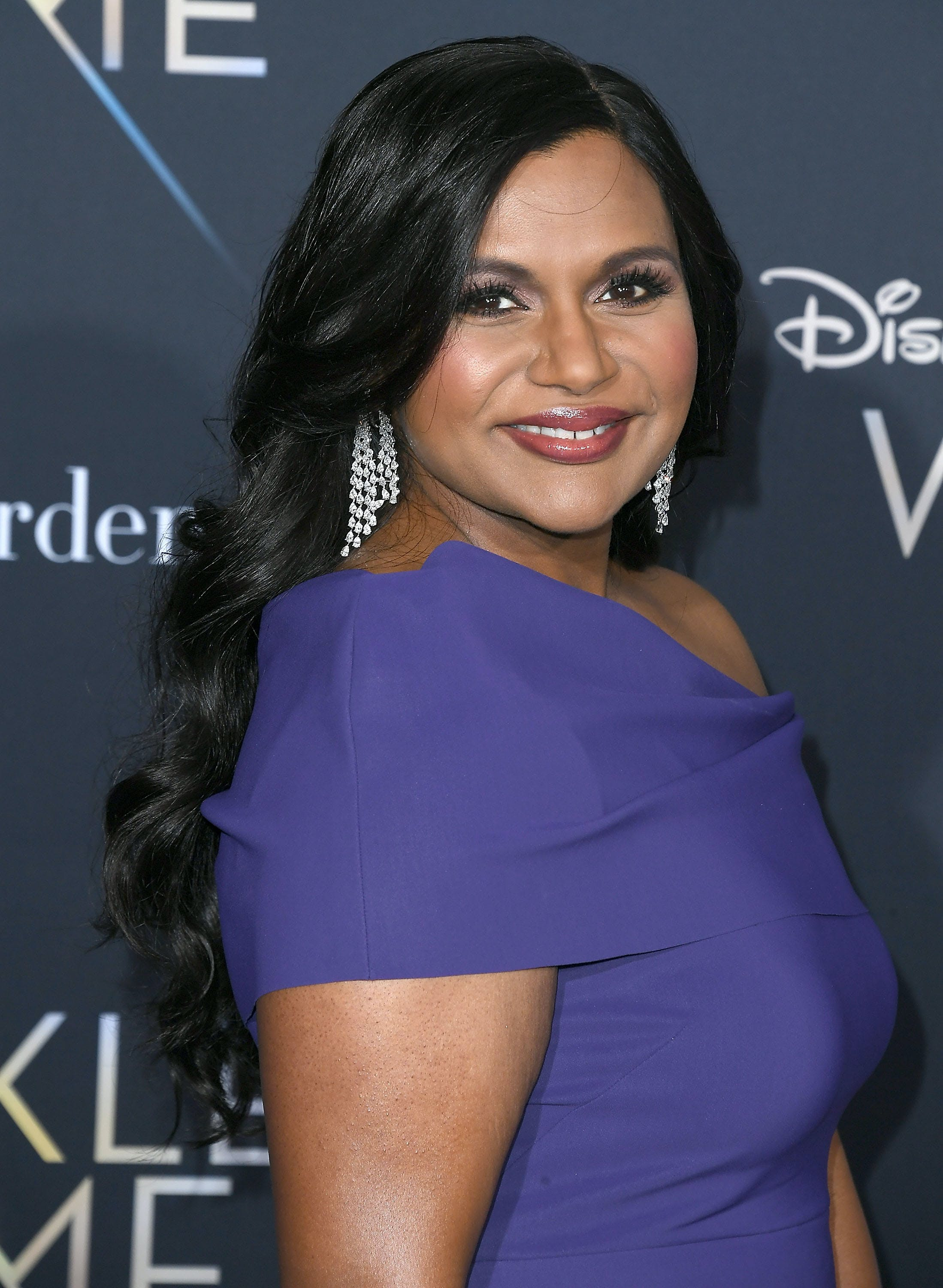 Mindy Kaling at the premier of A Wrinkle In Time